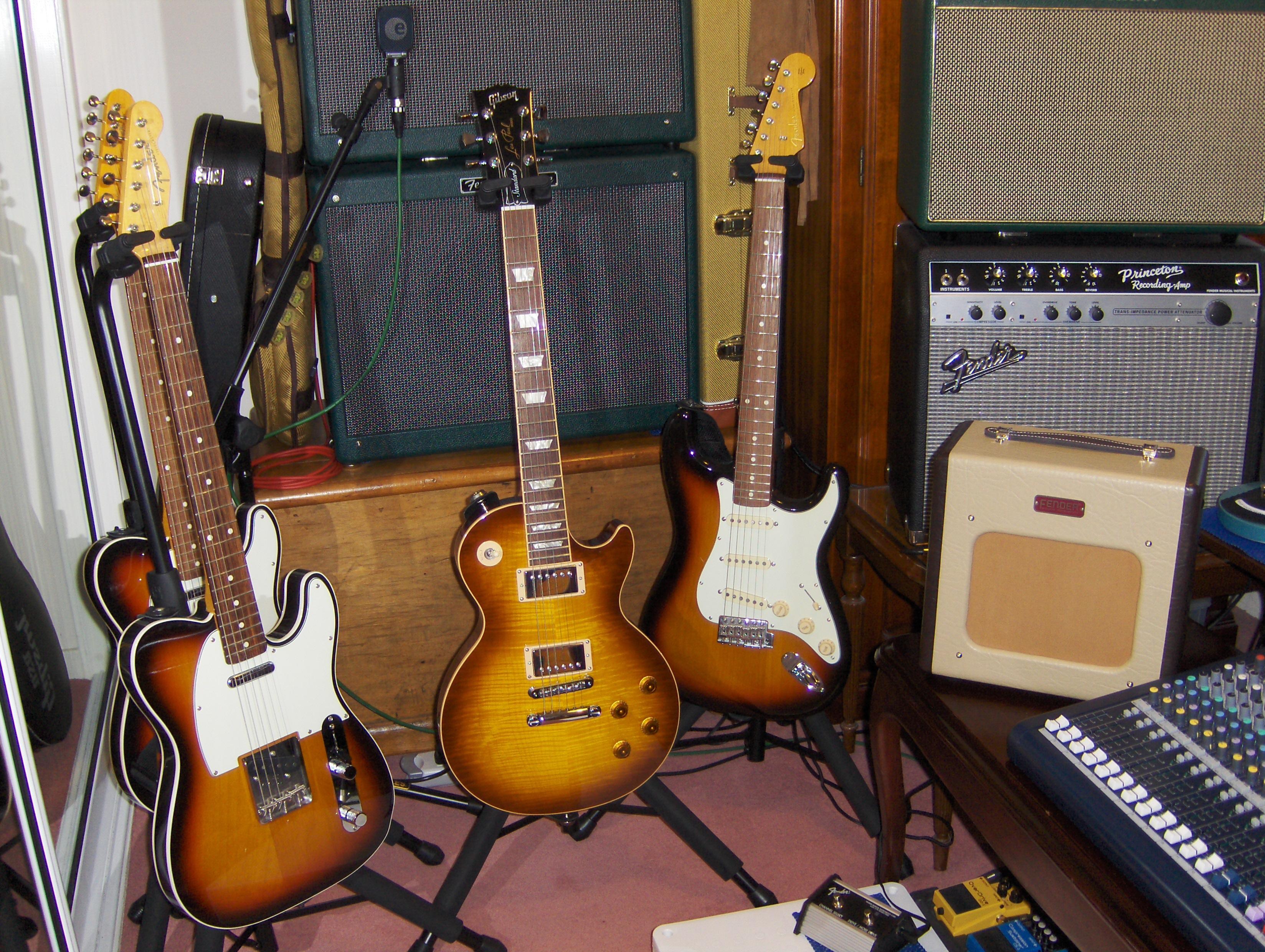Fender Guitars, Gibson Guitars, Fender Guitar Amps, Marshall Guitar